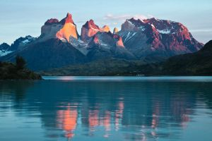 Sunrise, Las Cuernos, Torres del Paine, Chile